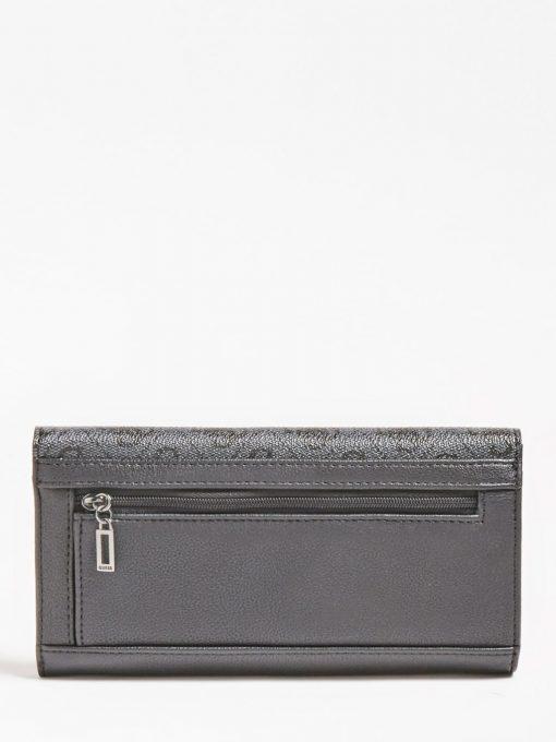 Guess Mika Large Ziparound Wallet Grey