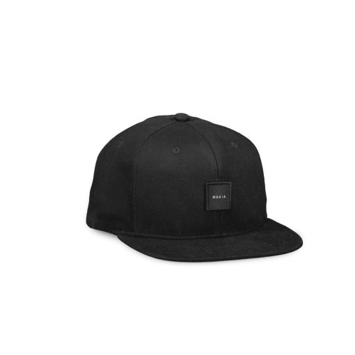 Makia Square Snapback Black