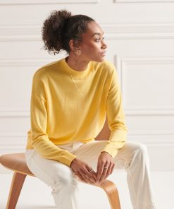 Superdry Merino Mock Neck Jumper Pigment Yellow