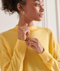 Merino Mock Neck Jumper Pigment Yellow