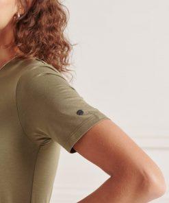 Superdry Drawstring T-Shirt Dress Moss Khaki