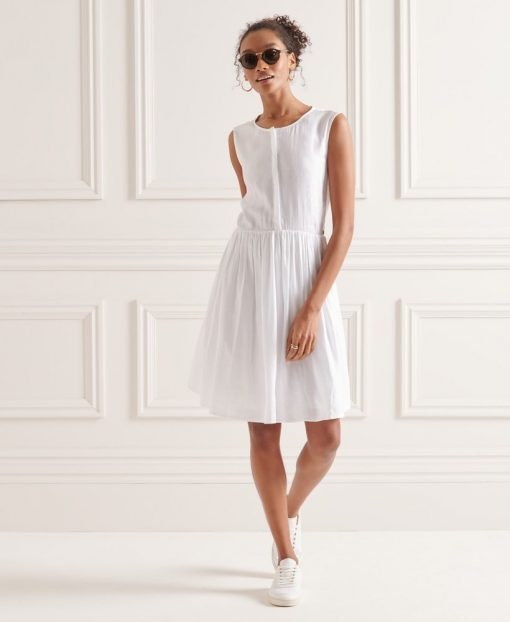 Superdry Textured Day Dress Optic White