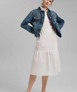 Esprit Organic Cotton Denim Jacket Blue Medium Washed