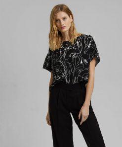 Esprit LENZING™ ECOVERO™ T-shirt Black
