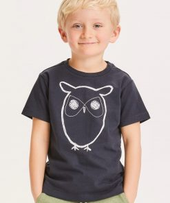 Knowlwdge Cotton Apparel Flax Owl Tee Total Eclipse