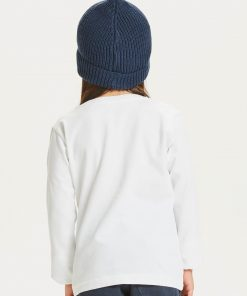 Knowlwdge Cotton Apparel Flax Owl Long Sleeve Tee Bright White