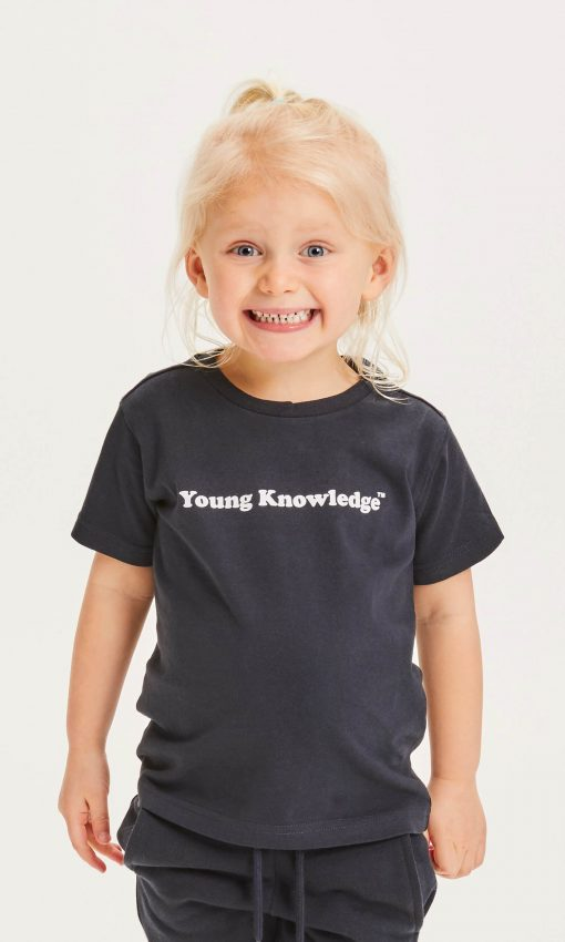 Knowledge Cotton Apparel Flax Young Tee Navy