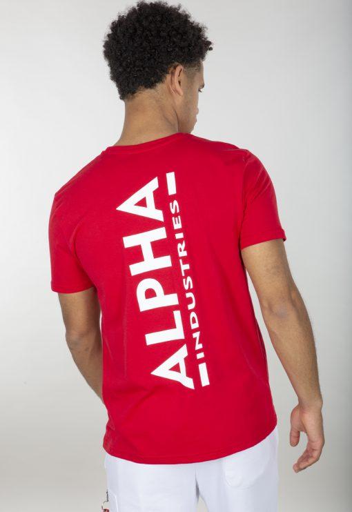 Alpha Industries Backprint T Red