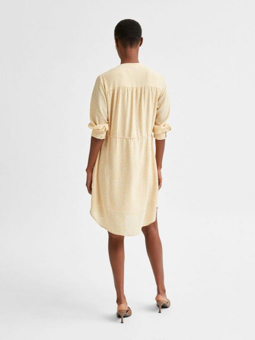 Selected Femme damina 7/8 Dress Sandshell