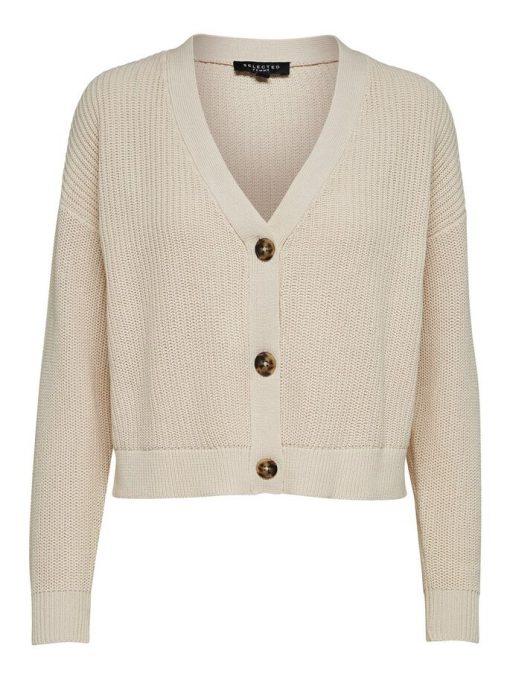 Selected Femme Sinna Knit Cardigan Sandshell