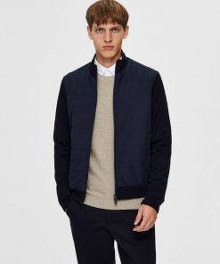 Selected Homme Knit Hybrid Jacket Dark Blue