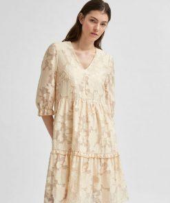 Selected Femme Sadie 3/4 Dress Sandshell