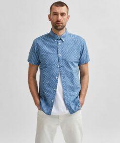 Selected Homme Slim Hart Shirt Light Blue