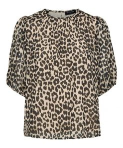 Selected Femme Tilda 3/4 Top Leopard