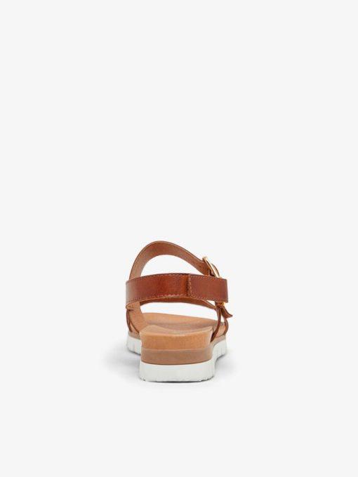 Bianco Biadebra Bucket Sandals Cognac