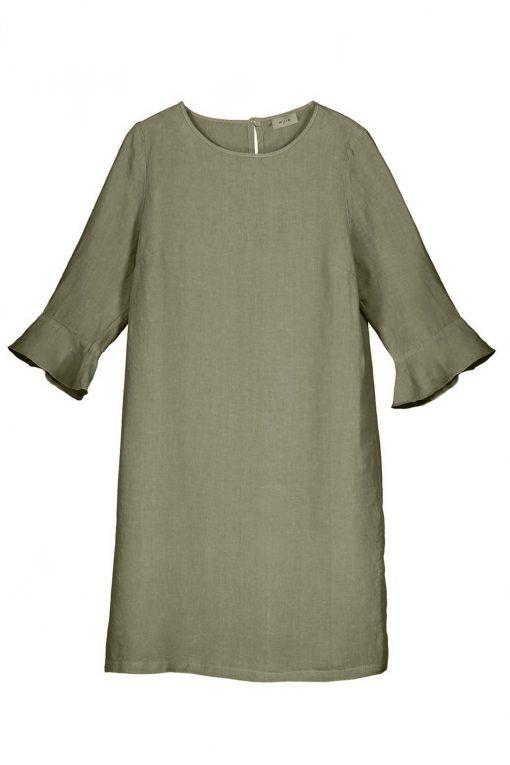 Balmuir Lilian Linen Dress Khaki