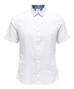 Only & Sons Caiden Life Linen Solid Shirt White