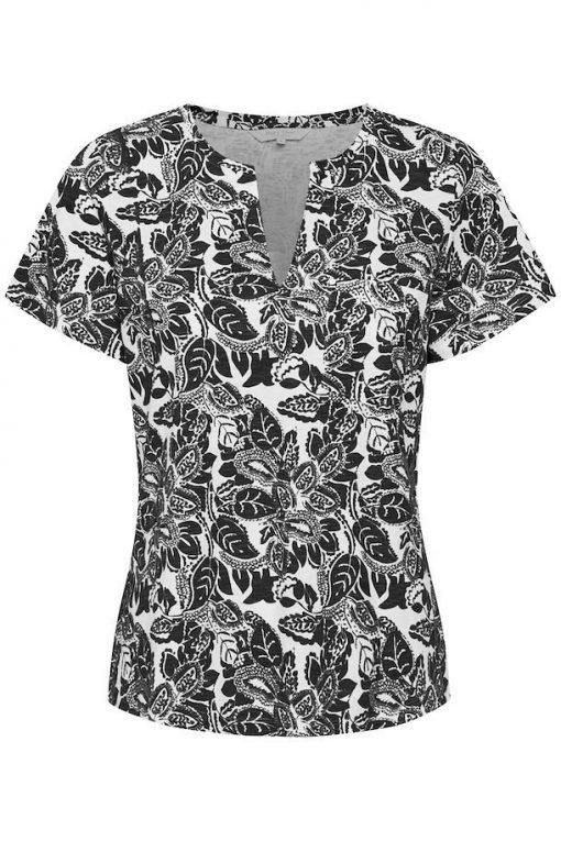 Part Two Gesina T-shirt Black Block Print