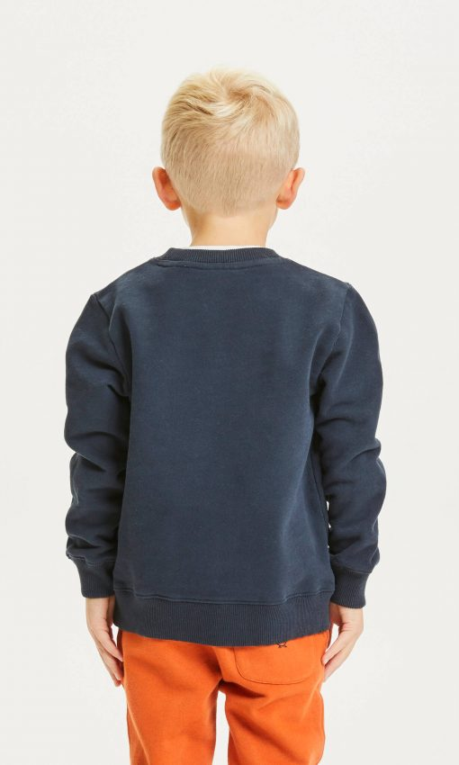 Knowlwdge Cotton Apparel Lotus Owl Sweat Total Eclipse