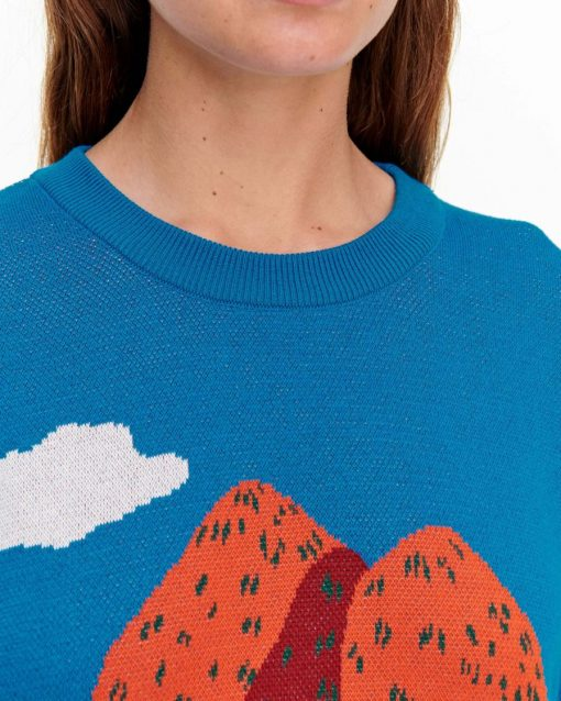 Marimekko Pilvinen Mansikkavuoret Pullover Blue