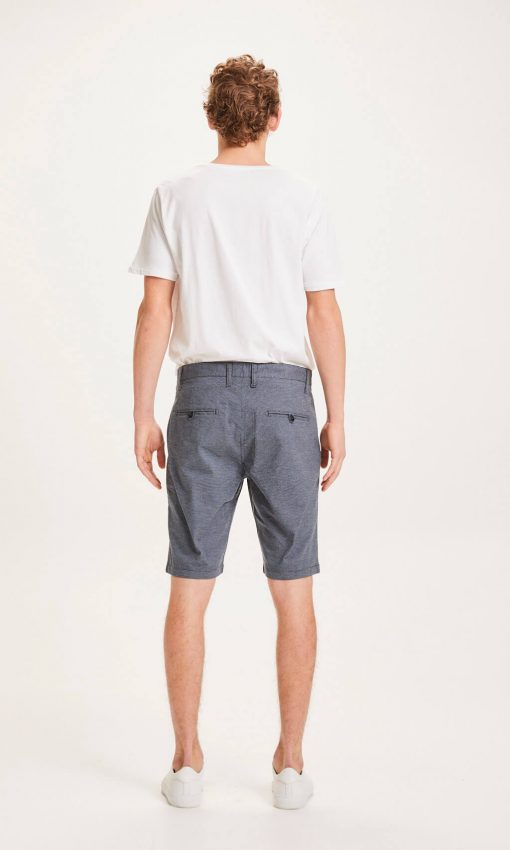 Knowledge Cotton Apparel Chuck Pattern Shorts Blue