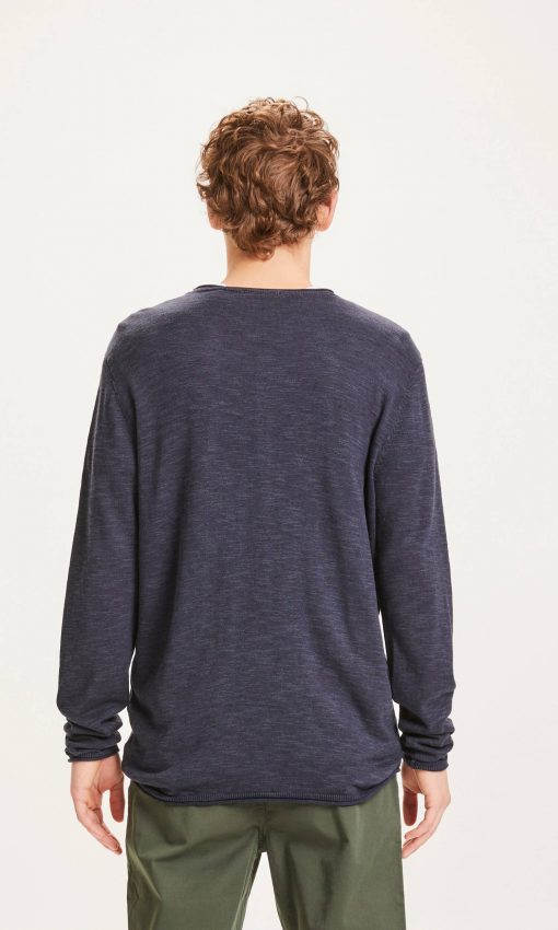 Knowlwdge Cotton Apparel Forrest O-neck Tencel™ Knit Total Eclipse