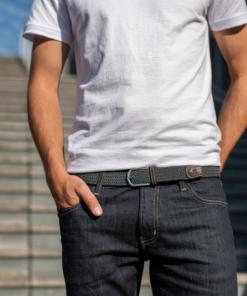 Billybelt Elastic Woven Belt Flannel Grey