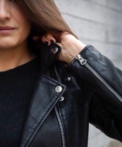 Human Scales Eva Leather Jacket Black