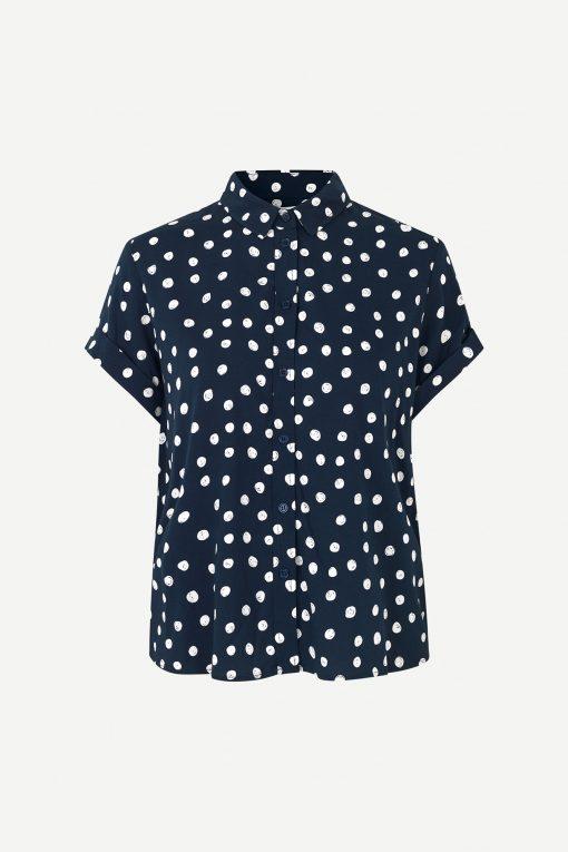 Samsoe&Samsoe Majan Shirt Blue Doodle Dot