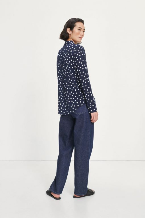 Samsoe & Samsoe Milly Shirt Blue Doodle Dot