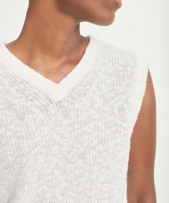 Samsoe & Samsoe Zoey Vest Antique White
