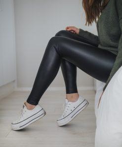 Pura Fake Leather Leggings Black