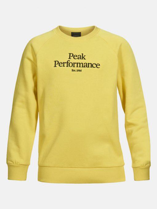 Peak Performance Junior Original Crew Neck Citrine