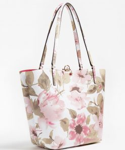 Guess Alby Floral Print Shopper Floral Fantasy