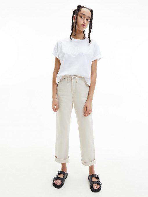 Calvin Klein High Rise Straight Ankle Jeans Denim Light