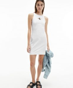 Calvin Klein Urban Logo Tank Dress Bright White