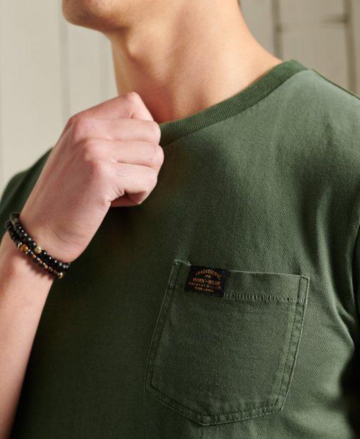Superdry Workwear Pocket T-Shirt Four Leaf Clover