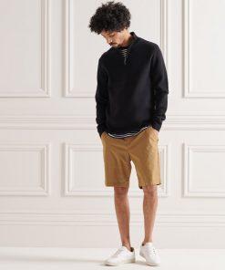 Superdry Cotton Knit Henley Black
