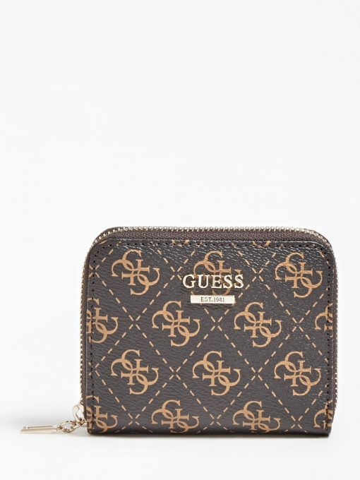 Guess Tyren 4G Logo Mini Wallet Brown