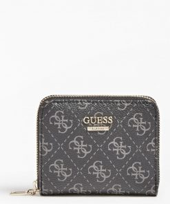 Guess Tyren 4G Logo Mini Wallet Coal