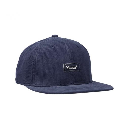 Makia Corduroy Cap Navy