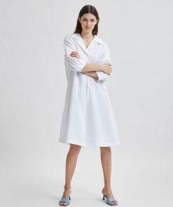 Selected Femme Amber Shirt Dress White