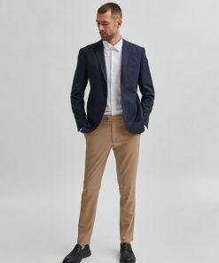 Selected Home Cash Linen Blazer Navy Blazer