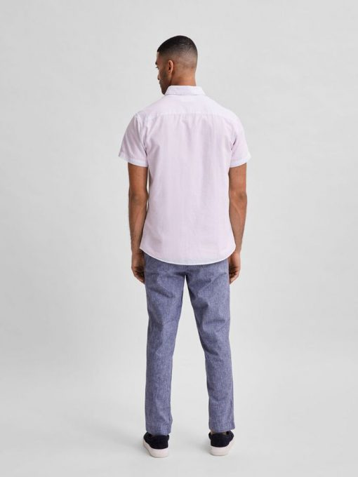 Selected Homme Classic Linen Shirt White