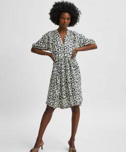 Selected Femme Paulina Short Dress Black