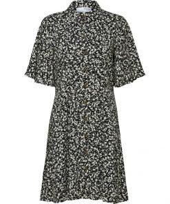 Selected Femme Fuma Shirt Dress Black