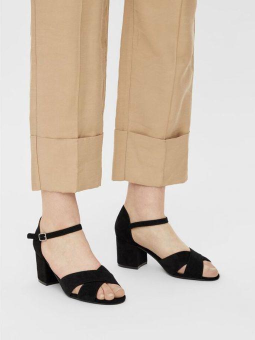 Bianco Biacate Cross Sandal Black