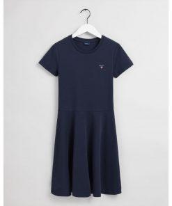 Gant Teens Original Jersey Dress Evening Blue