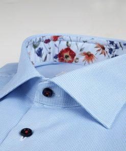 Stenströms Fitted Body Short Sleeve Shirt Light Blue