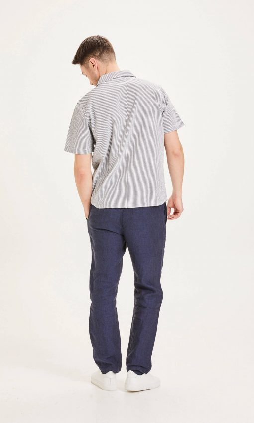 Knowlwdge Cotton Apparel Fig Loose Linen Pants Total Eclipse